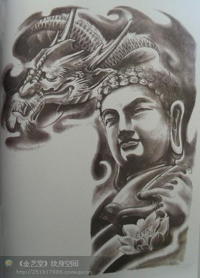 观音纹身素材 / 佛纹身素材 / 成都纹身佛 / 成都雕龙刺青纹身