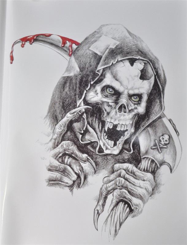 死神骷髅简笔画